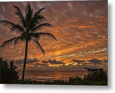Oceanfront Park Sunrise 2 Metal Print by Don Durfee