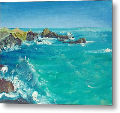 Metal Print featuring the painting Oceano    by Asha Carolyn Young