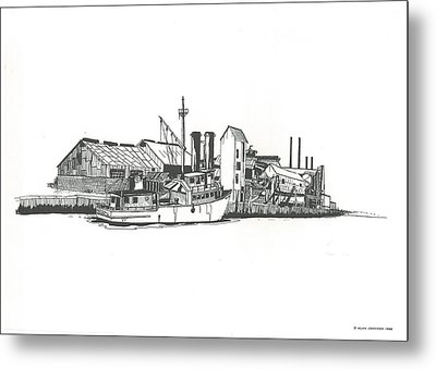 Oceanport Fish Factory Metal Print