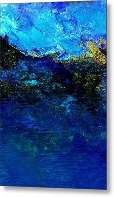 Oceans Edge Metal Print by Michael Nowotny