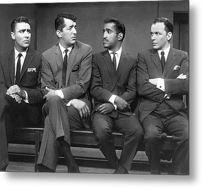 Ocean's Eleven Rat Pack Metal Print by Underwood Archives