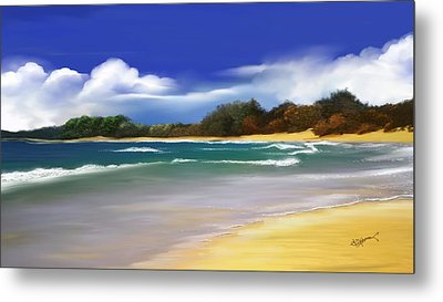 Metal Print featuring the digital art Oceanside Dream by Anthony Fishburne