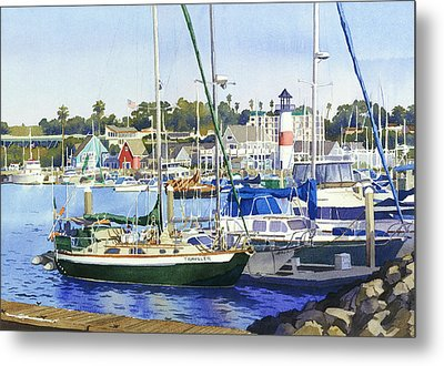 Oceanside Harbor Metal Print by Mary Helmreich