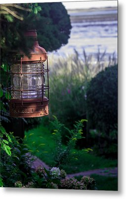 Metal Print featuring the photograph Oceanside Lantern by Patrice Zinck