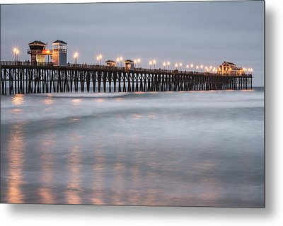 Metal Print featuring the photograph Oceanside Pier 1 by Lee Kirchhevel