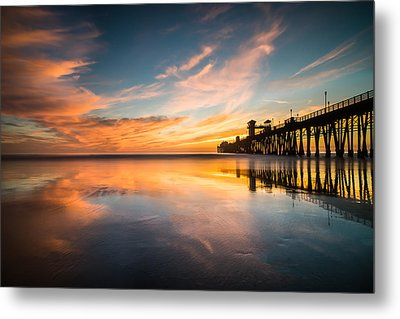 Oceanside Reflections 3 Metal Print by Larry Marshall