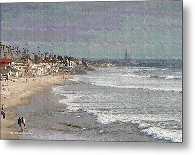 Metal Print featuring the photograph Oceanside South Of Pier by Tom Janca