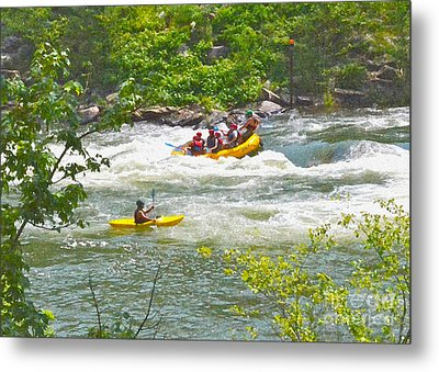 Ocoee White Water Metal Print