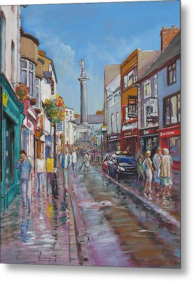 O'connell Street Ennis Co Clare Metal Print by Tomas OMaoldomhnaigh