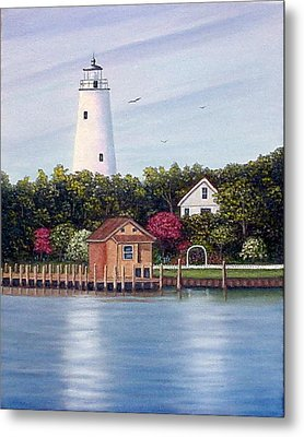 Ocracoke Island Light Metal Print by Fran Brooks