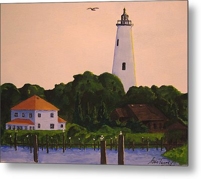 Ocracoke Lighthouse Metal Print
