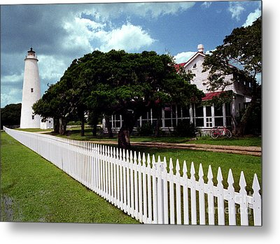 Metal Print featuring the photograph Ocracoke Lighthouse by Tom Brickhouse