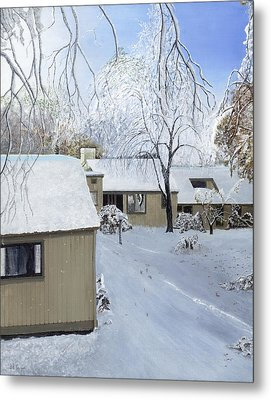 Oct Snow Storm Metal Print by Stuart B Yaeger