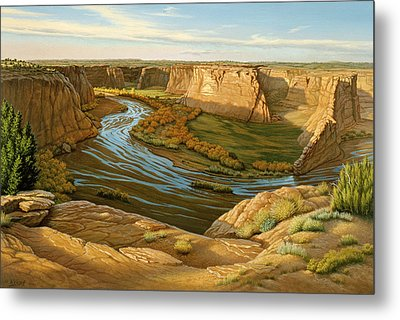 October Afternoon- Canyon Dechelly Metal Print