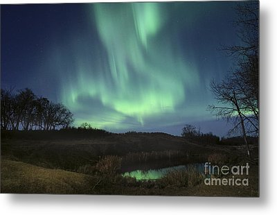October Aurora Metal Print
