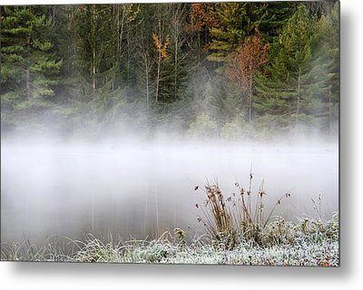 October Frost Landscape Metal Print by Christina Rollo