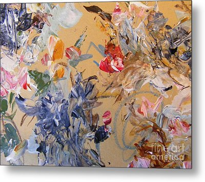 Metal Print featuring the painting October Glow 2 by Nancy Kane Chapman