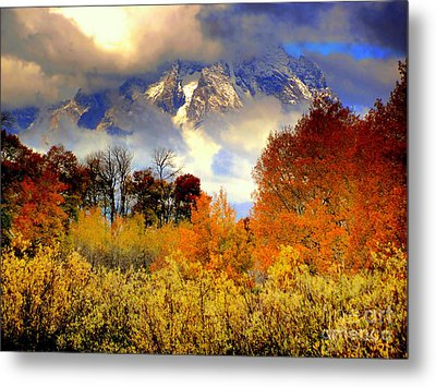 October In Grand Tetons Metal Print