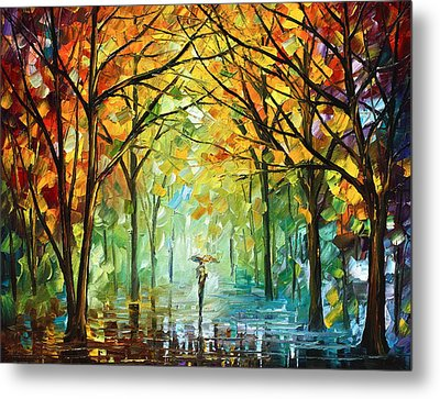October In The Forest Metal Print by Leonid Afremov