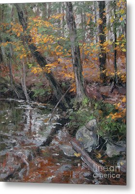 October Leaves Metal Print by Gregory Arnett