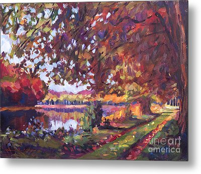 October Mirror Lake Metal Print by David Lloyd Glover