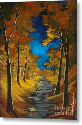 Metal Print featuring the painting October Stroll by Steven Lebron Langston