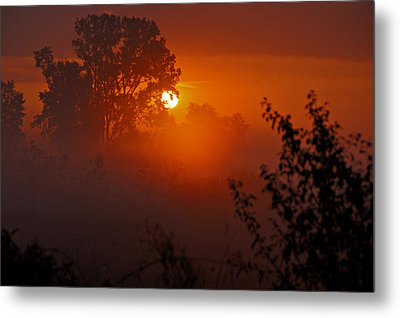 October Sunrise Metal Print by Judy  Johnson