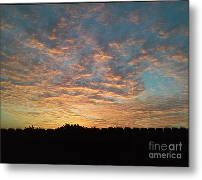 October Sunrise Metal Print