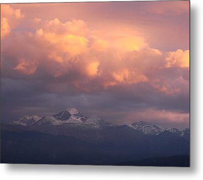 October Sunset Over Longs Peak Metal Print by Margaret Bobb