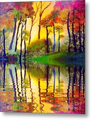 Metal Print featuring the painting October Surprise by Holly Martinson