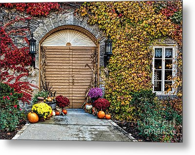 October Welcome Metal Print