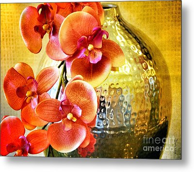 October's Orchids Metal Print by Darla Wood