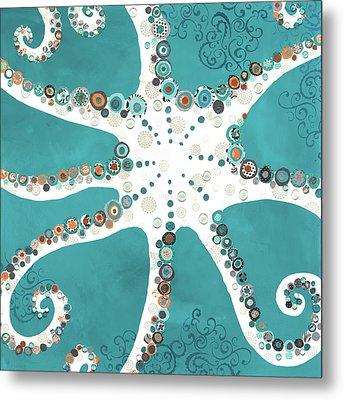 Octopus Metal Print by Jennifer Peck