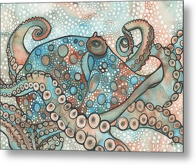 Octopus Metal Print by Tamara Phillips