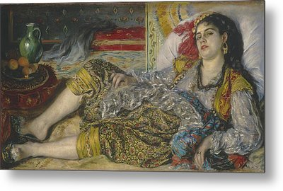 Odalisque Metal Print by Pierre Auguste Renoir