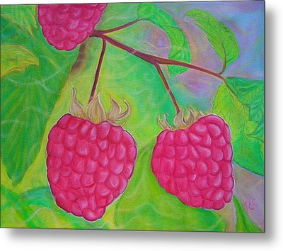 Ode To A Raspberry Metal Print by Rachel Cruse