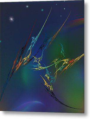 Metal Print featuring the digital art Ode To Joy by David Lane