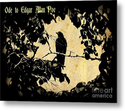 Ode To Poe Metal Print by John Malone