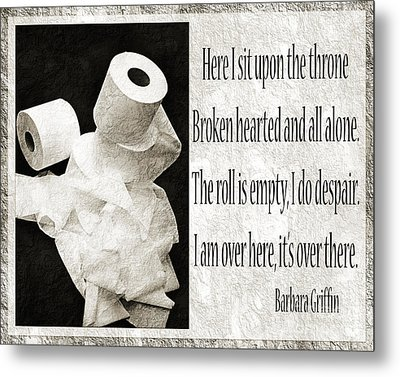 Ode To The Spare Roll Bw 2 Metal Print by Andee Design