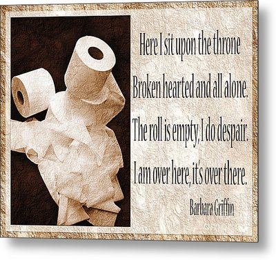 Ode To The Spare Roll Sepia 2 Metal Print by Andee Design