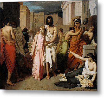 Oedipus And Antigone Or The Plague Of Thebes  Metal Print