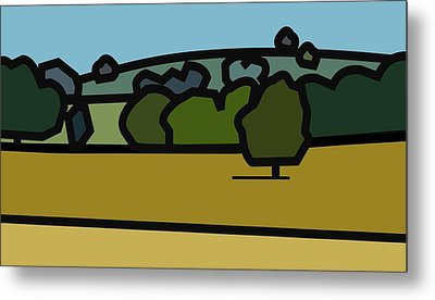 Oe'r Golden Field Metal Print by Kenneth North