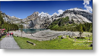 Metal Print featuring the photograph Oeschinen Lake by Carsten Reisinger