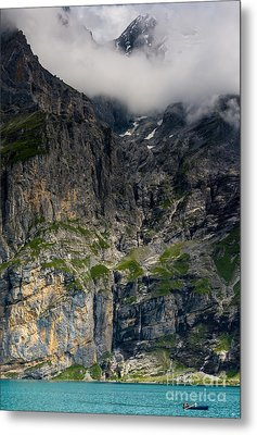 Oeschinensee Mountain - Bernese Alps - Switzerland Metal Print by Gary Whitton