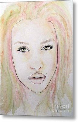 Metal Print featuring the mixed media Of Colour And Beauty - Pink by Malinda Prudhomme