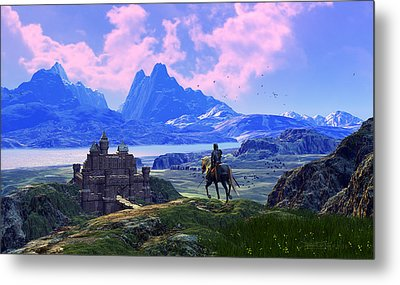 Of Many Knights Metal Print by Dieter Carlton
