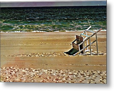 Metal Print featuring the pyrography Off Season by Allen Beilschmidt
