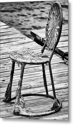 Off-season Grunge Metal Print by Christi Kraft