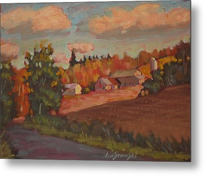Metal Print featuring the painting Off The Beat'n Path by Len Stomski