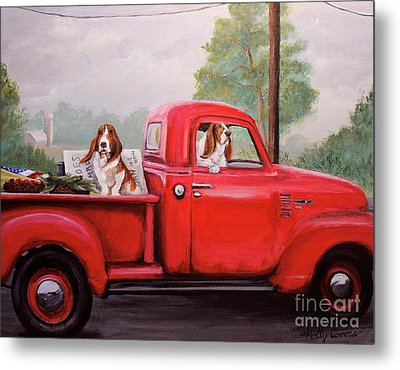 Off To Market Metal Print by Holly Connors